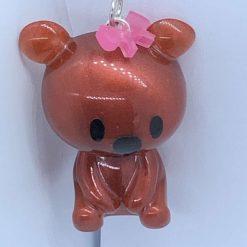 Handmade Resin Teddy Bear keyring/magnet/necklace/diamond painting minders