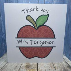 Thank you teacher card - Apple