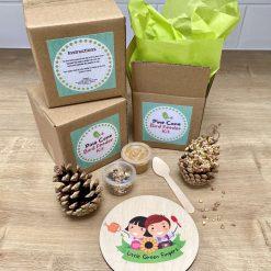 Mini Pine Cone Bird Feeder Kit | Party Bag Filler | Bird Feeder Kit | Peanut Butter Bird Feeder | Summer Holiday Activity | Kids Craft Kit