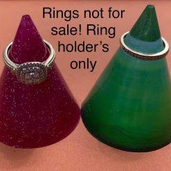 Handmade Resin Cone Ring Holder