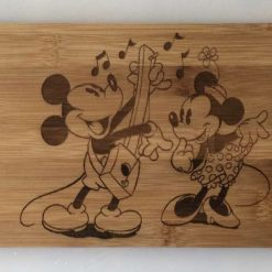 Mickey and Minnie Mouse Bamboo Paddle/Serving Board
