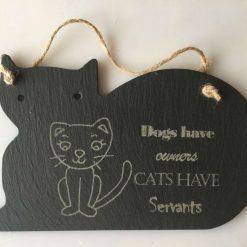 Cat Slate Sign