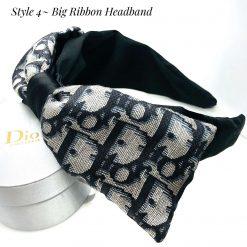 Dior scarf upcycled - black  Dior monogram-/ silk-headband/ headband