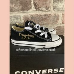 Black converse Personalised with Gold text