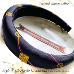 Celine Scarf's upcycled- Alicestyle headband 4cm with extra thick platform