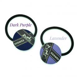 Hermes ribbon hairband/ hairtie- purple