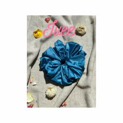 Oversized Ivee Hair Scrunchie (Blue)