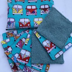 Camper Van makeup/face wipes (pack of seven and pouch)