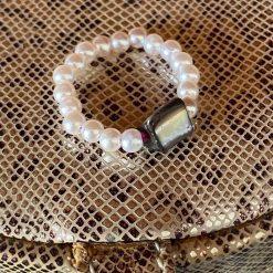 Abalone shell Thumb Ring