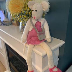 Bailey the Beautiful Knitted Mouse Made With Love