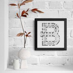Alphabet Floorplan 'B' Art Print 1