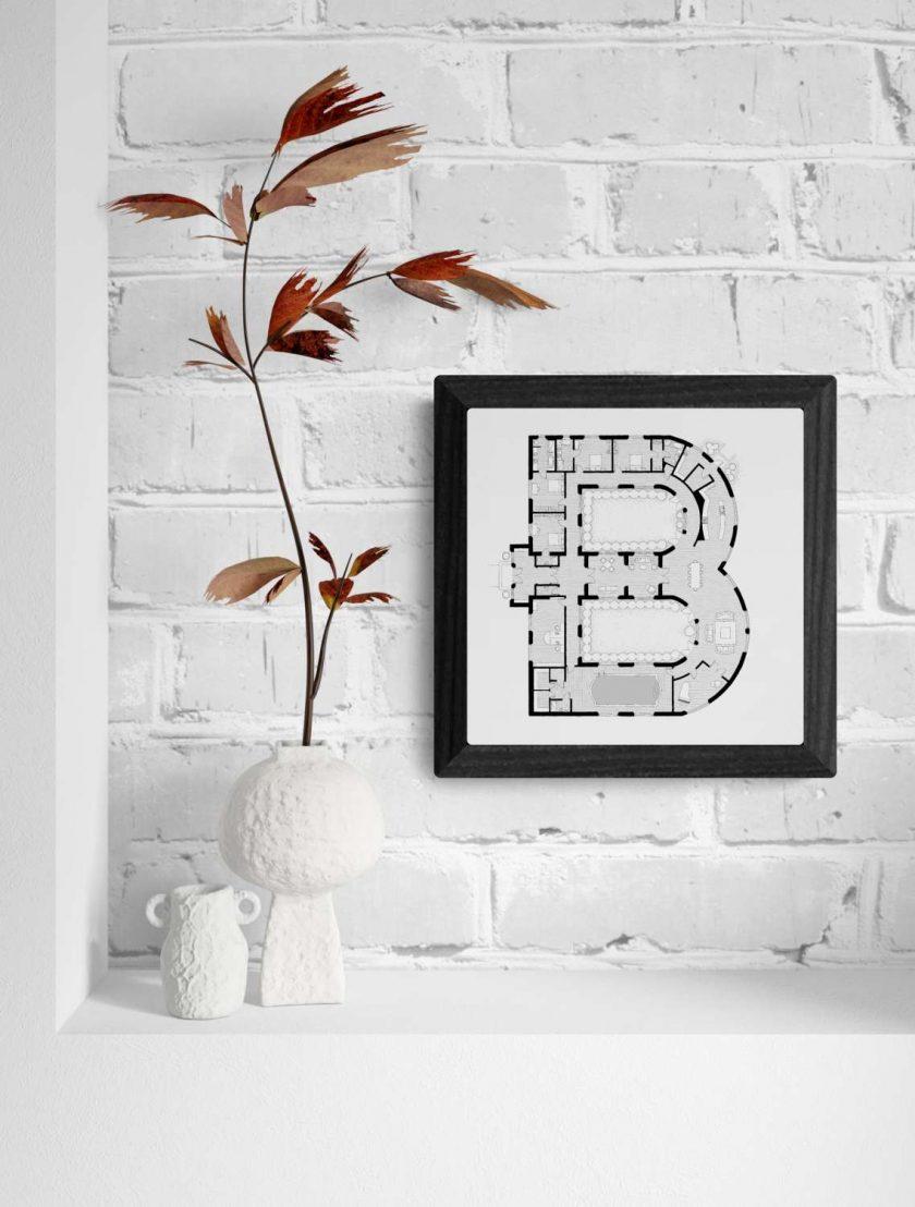 Alphabet Floorplan 'Z' Art Print