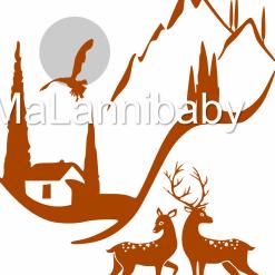 Alps Scene SVG | Cricut | Silhouette | CNC ESP DXF JPG PNG PDF