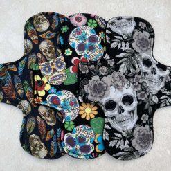 Skulls bundle Cloth Menstrual Pads 9'' heavy flow