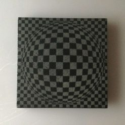 Slate Coaster Optical Illusion No4