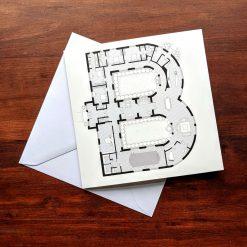 Alphabet Floorplan 'Z' Greetings Card