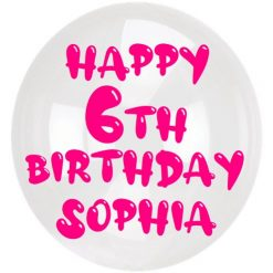 Happy Birthday Balloon Sticker with age and name 30cm / 12 inches