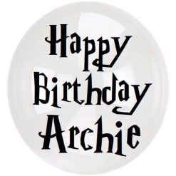 Wizard Birthday Balloon  | Decal | Birthday | *STICKER ONLY* 30cm / 12 inches Harry Potter inspired