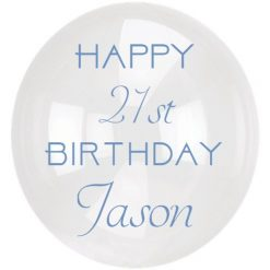 Happy Birthday Balloon with age and name 12 inches / 30cm *STICKER ONLY* DIY