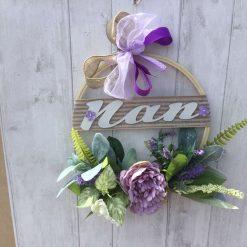Personalised floral hoop