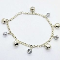 Jingle bells. Bell and silvery drops anklet