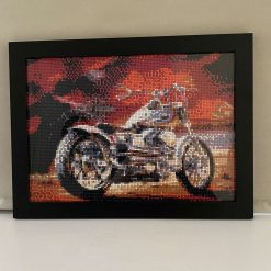 Motorbike picture, Father's Day gift, dads birthday, adult gift, wall hanging, motorbike lovers, framed picture