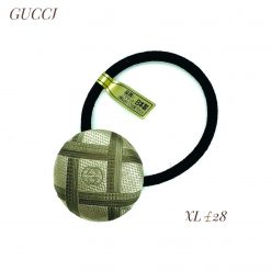 Gucci scarf upcycled -vintage gold- XL hairband /hair tie