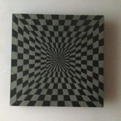 Slate Coaster Optical Illusion No3
