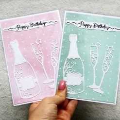 Champagne Happy Birthday Greetings Card