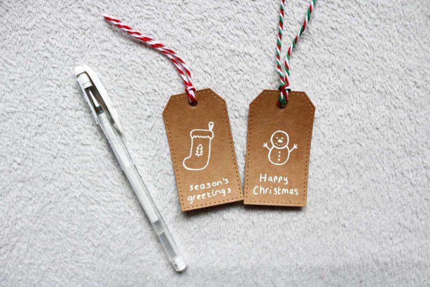 Christmas Gift Tags Handmade (Pack of 5)