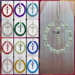 - Dragonfly - Birthstone Inspired, Dragonfly Suncatcher / Decoration