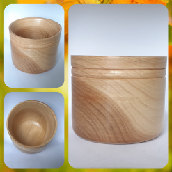 - Wood turned - Decorative Light Wood Bowl (unique, one off piece)