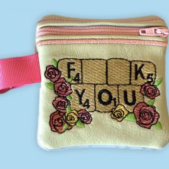 Rude Coin Purse with key fob (2)