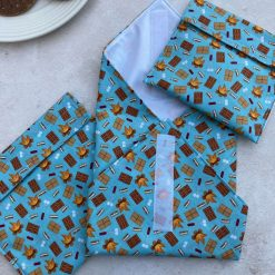 Reusable Sandwich Wrap and Snack Pouch S'mores