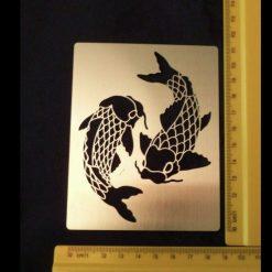 Stainless Steel Koi Carp Fish Design Stencil/Template Emboss/Card-Making
