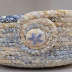 Batik Fabric Rope Bowl