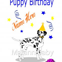 DIY Dalmatian Birthday Card SVG| Digital File | Cricut | Silhouette | ESP DXF JPG PNG PDF