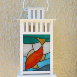 Candle lantern - Stained glass, Diving fish