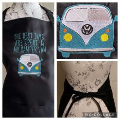 Personalised Embroidered Camper Van Apron