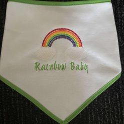 Personalised Embroidered Rainbow Bib