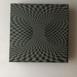 Slate Coaster Optical Illusion No2