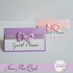 Elizabeth Dior Wedding Name Place Cards