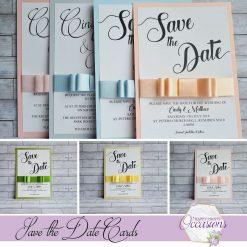 Elizabeth Dior Save the Date Cards