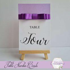 Elizabeth Dior Wedding Table Number Cards