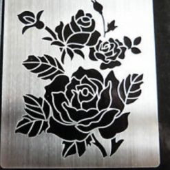 Small Stainless steel Rose Design Stencil/Template for card making/Embossing