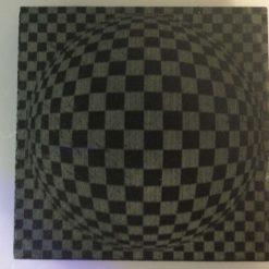 Slate Coaster Optical Illusion No1