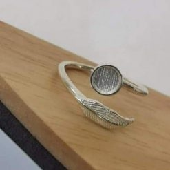 Aubrey feather ring   TEMPORARILY  OF STOCK