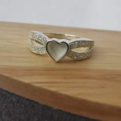 Poppy ring memorial cremation jewellery