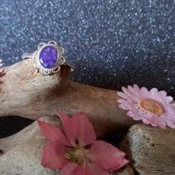 Hallie flower ring memorial cremation jewellery