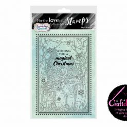 Hunkydory - For The Love Of Stamps - A Sparkling Season - Deer Forest - A6 Stamp Set